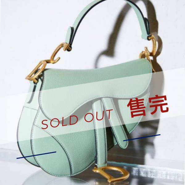 Dior 迷你 Saddle 顆粒小牛皮馬鞍包 薄荷綠色 Bottega Veneta