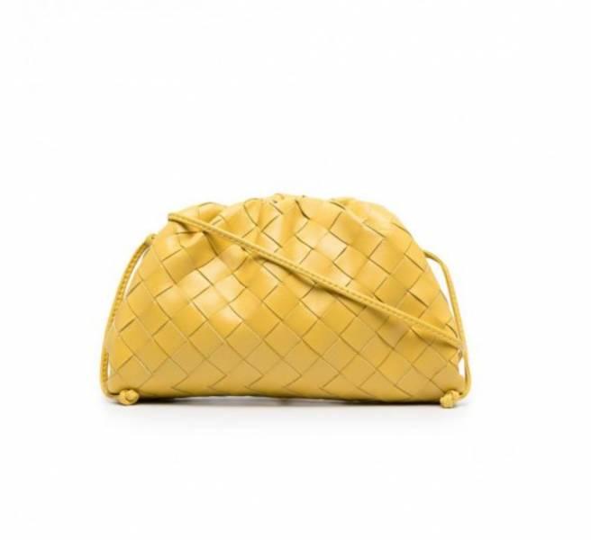 Bottega Veneta 585852 小款編織款雲朵包 黃蝴蝶