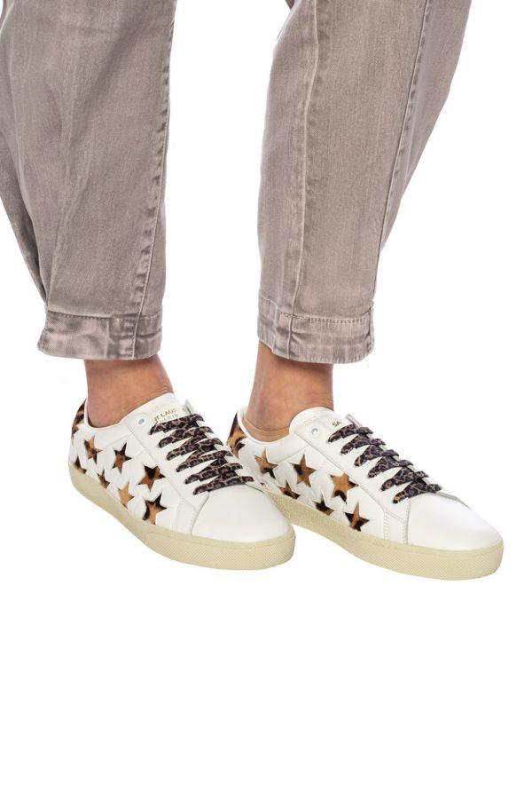 Saint Laurent 聖羅蘭 YSL 女款馬毛星星皮革運動鞋     IT35/36