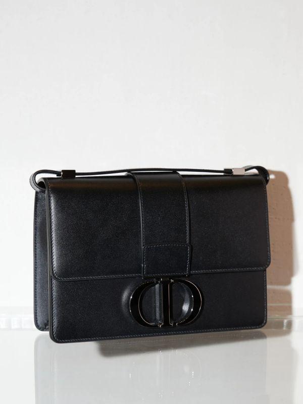 Dior 30 Montaigne 光滑小牛皮包 霧面黑釦    黑色 Bottega Veneta