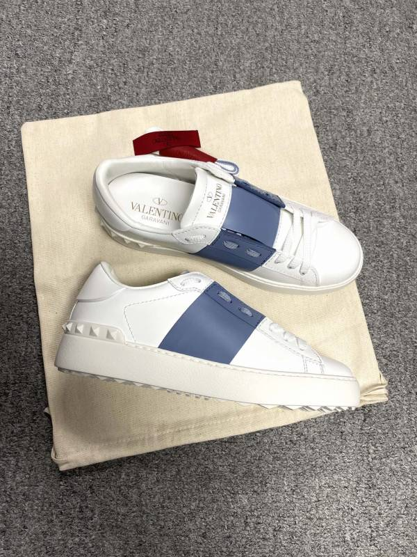 Valentino Garavani 女款 Open 經典運動鞋 白色/藍色    IT35/36/36.5/37.5/38