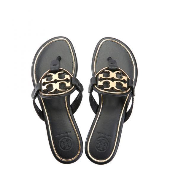 Tory Burch 皮革涼拖鞋  US 5.5/6.5/7.5
