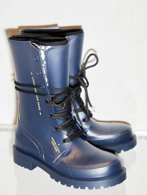 Dior Oblique DIORCAMP 女款橡膠和氯丁橡膠鞋 藍色  IT 36/37/38/39/40/41    Bottega Veneta