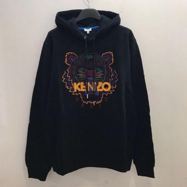 Kenzo 彩色老虎刺繡棉質 T-shirt 連帽上衣 S