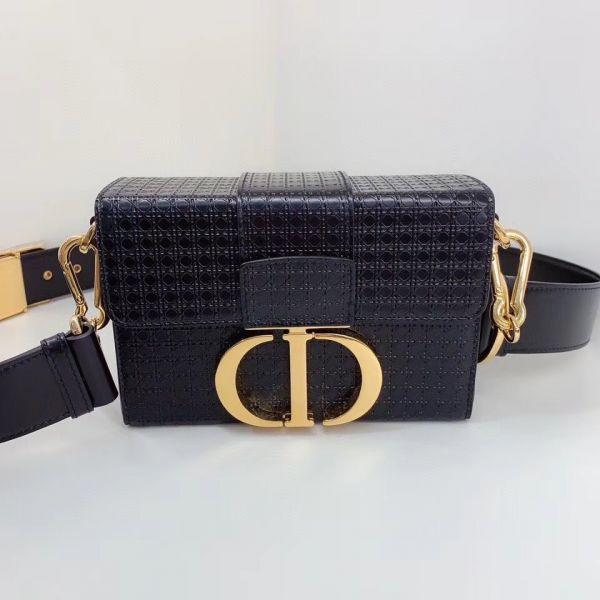 Dior 30 Montaigne Box 黑色迷你藤格紋圖案小牛皮 Bottega Veneta