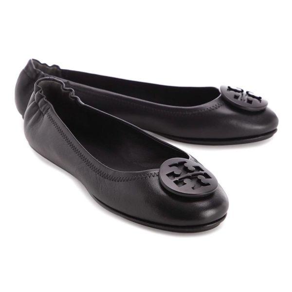Tory Burch 女款 Minnie 芭蕾平底鞋 黑色Logo     IT 35/36/36.5/37/37.5/38
