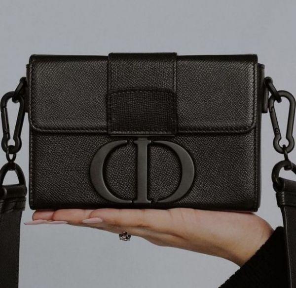 Dior 30 Montaigne Box 頂級小牛皮包 黑色 Bottega Veneta