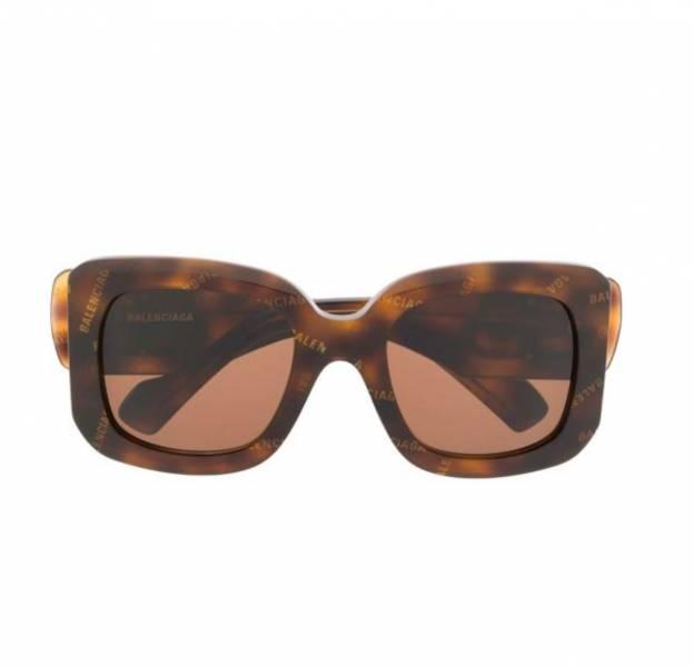 Balenciaga Eyewear Paris D形框太陽眼鏡 琥珀色