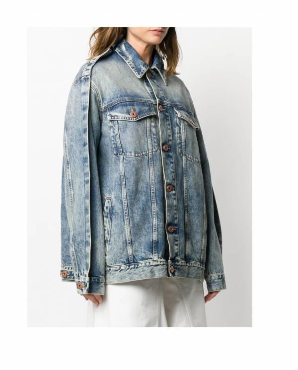 Maison Margiela 女款OS刷舊牛仔夾克上衣 IT 38XS / 40S