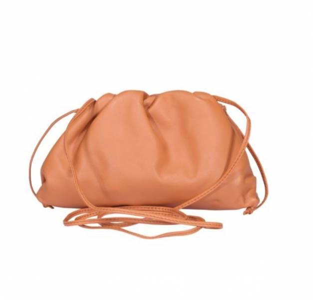 Bottega Veneta 585852 小款雲朵包 陶土棕橘色