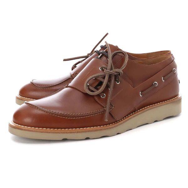 Maison Margiela 男款拋光小牛皮休閒皮鞋 棕色 IT41/43/44/45/46