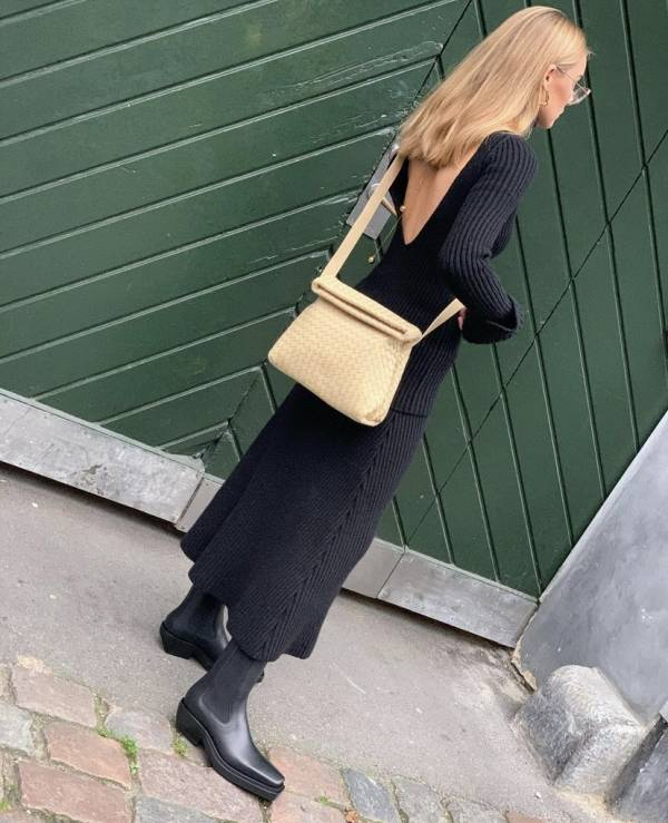 Bottega Veneta BV Fold Nappa 小款編織肩背包 燕麥色 Bottega Veneta