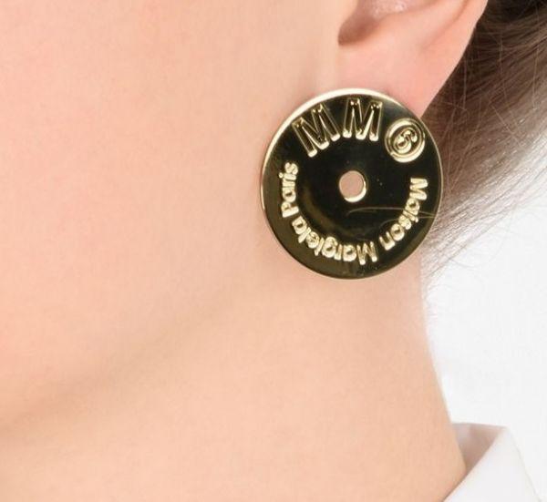 Maison Margiela  金色黃銅耳環 Bottega Veneta