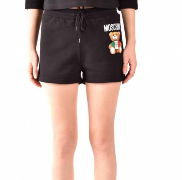 Moschino 女款 義大利Teddy 熊短褲  黑色  38XS/40S