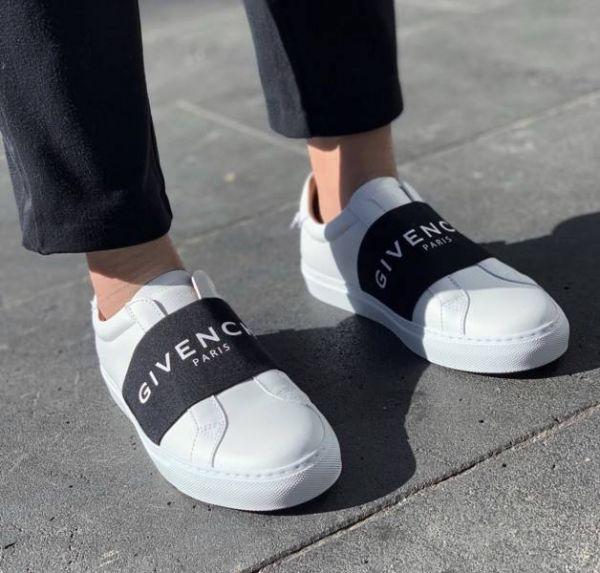 Givenchy 男款LOGO BAR 織帶白色球鞋  IT 39.5/40/40.5/41/41.5/42/42.5/43