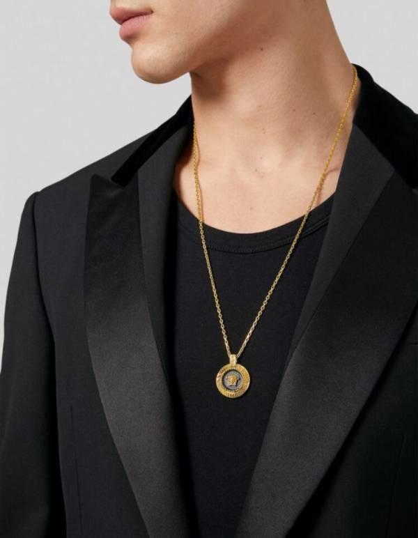 Versace Medusa 中性/男款美杜莎經典琺瑯項鍊