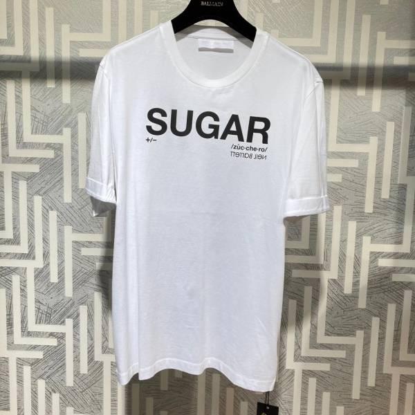 Neil Barrett 男款 Sugar 混紡棉質 T shirt 上衣 白色    S/M/L/XL