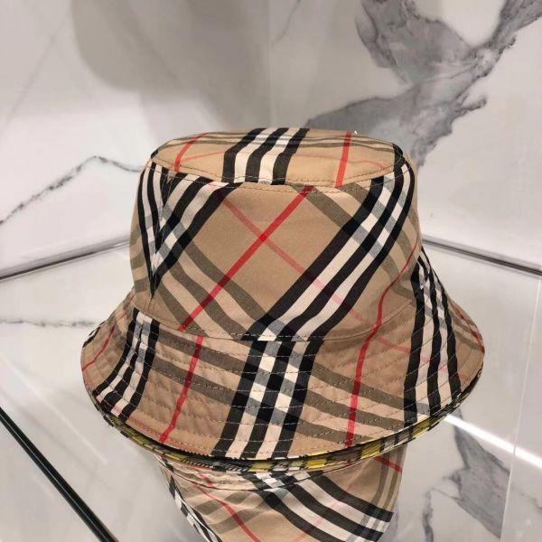 Burberry 雙面兩用標誌性條紋棉質及羊毛漁夫帽  S/M/L