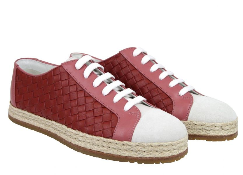 Bottega Veneta 428871 粉色女款編織花邊運動鞋  IT35/35.5/36/36.5/37/37.5