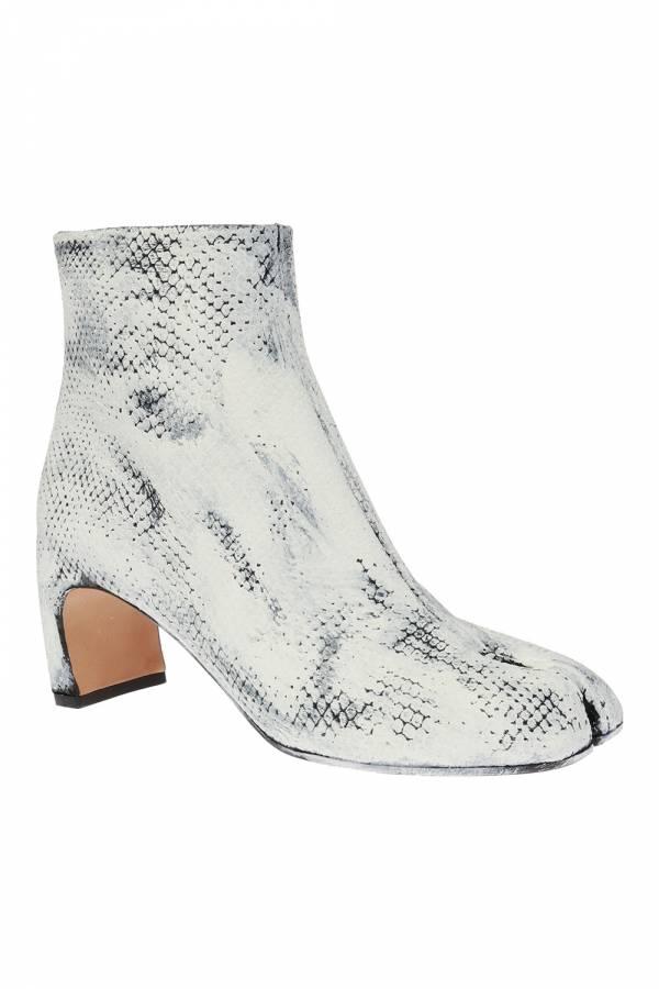 Maison Margiela 女款 Tabi 黑白刷色小牛皮羊趾短靴    IT 36/37/38/39/40/41 Bottega Veneta