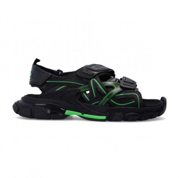 Balenciaga 男款黑色和綠色Track涼鞋  IT 39/40/41/42/43