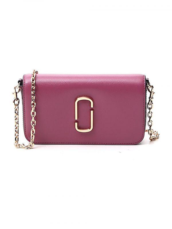 Marc Jacobs Snapshot WOC 鍊帶長夾錢包   牡丹粉色