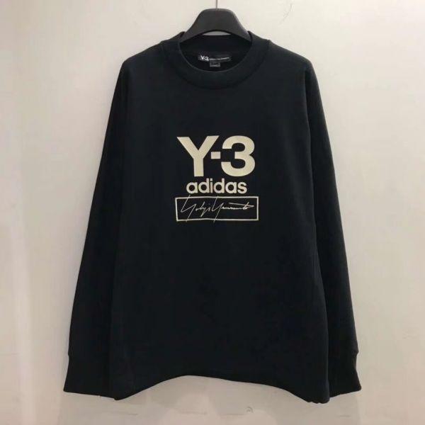 Y-3 Yohji Logo 中性棉質上衣 黑色 XS S M L