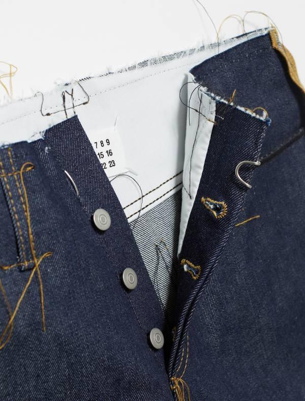 Maison Margiela 男款 鬆散線和對比色側縫牛仔褲    29/30/31/32腰 Bottega Veneta