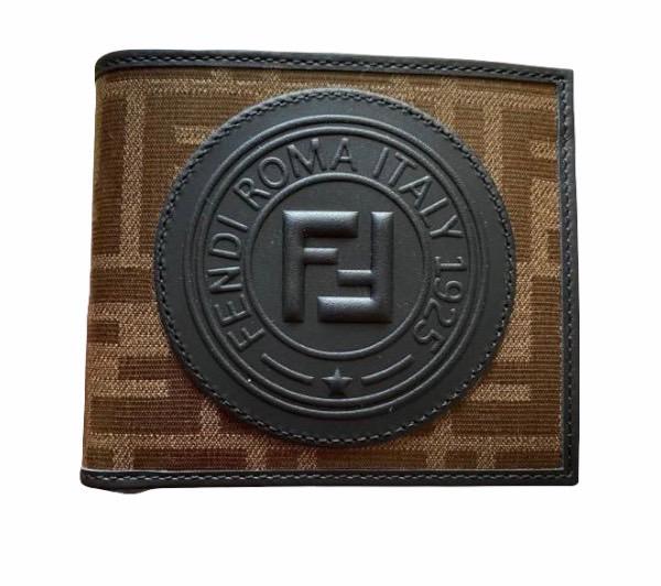 Fendi 7M0169 男款 FF徽標兩折短夾/皮夾