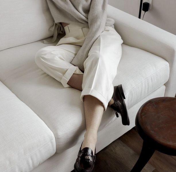 Celine LUCO Chain Triomphe拋光牛皮革樂福鞋    IT 35.5/36/36.5/37/37.5/38