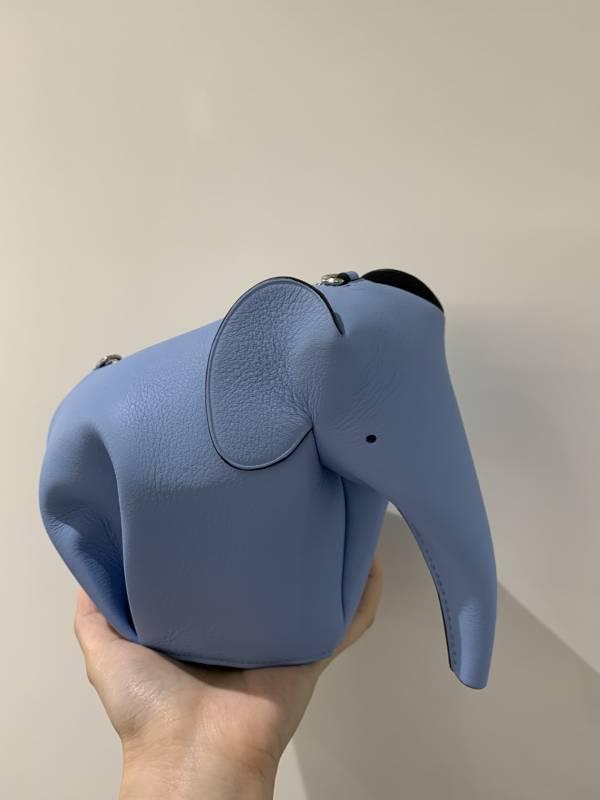 Loewe 迷你大象斜背包  藍色