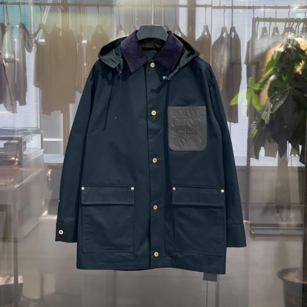 Loewe 男款棉質補丁口袋派克大衣  44XS/46S/48M/50L LOEWE,Hammock