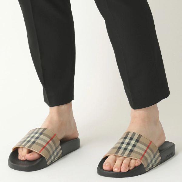 Burberry 女款 80242321 Vintage 格紋涼拖鞋  IT 36/38