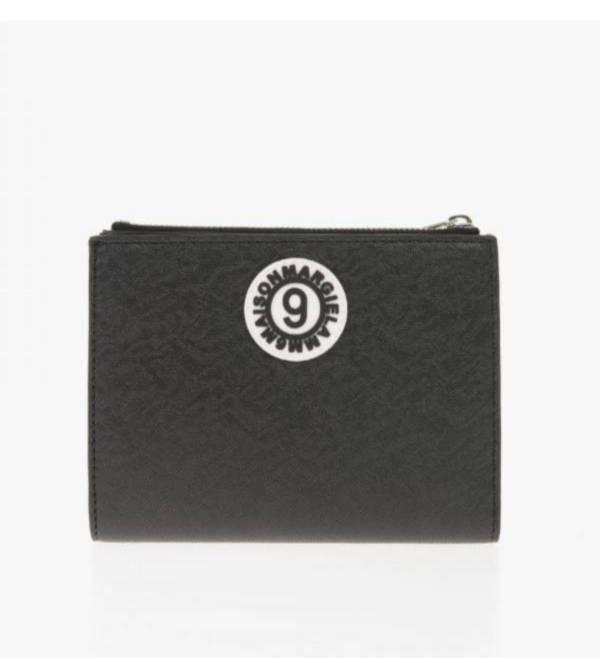 Maison Margiela 簡約環保皮革短夾  黑色 Bottega Veneta