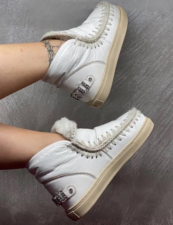 Mou英國頂級愛斯基摩Eskimo 18 水鑽羊毛運動靴鞋 白色    IT35/36/37/38/39/40 YSL COLLEGE學院包