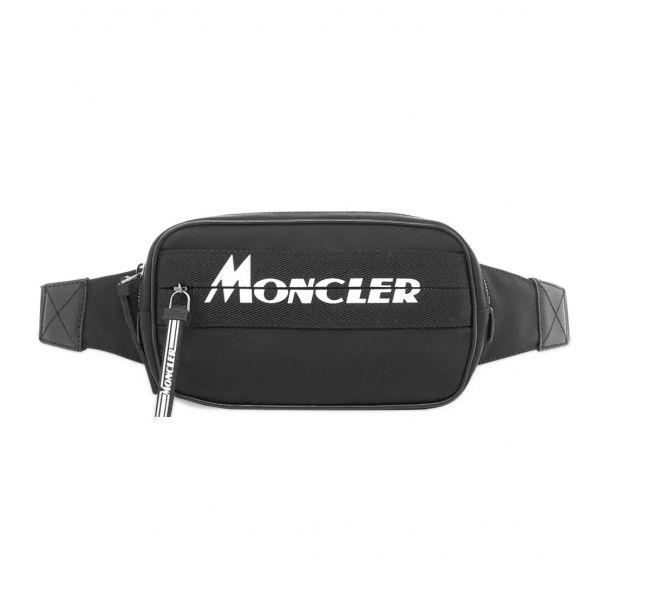 Moncler 黑色徽標腰包/胸包