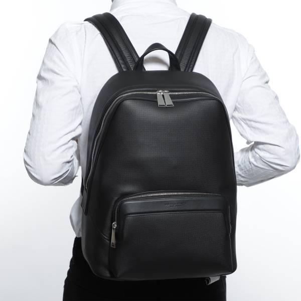 Bottega Veneta 578156 男款 織紋光滑小牛皮雙肩包