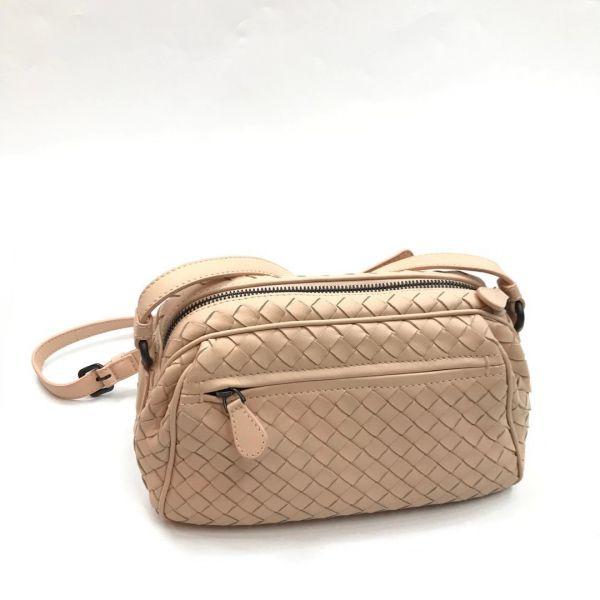 Bottega Veneta 363117 Intrecciato Nappa 小型編織斜背包  乾燥玫瑰粉
