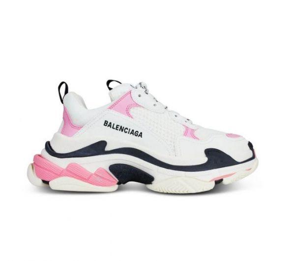 Balenciaga Triple S Logo女款老爹運動鞋 粉/白/黑多色  IT 36/37/38/39/40/41/42