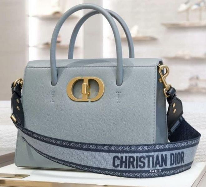 Dior  深丹寧藍色顆粒小牛皮ST Honore 2用包 Bottega Veneta