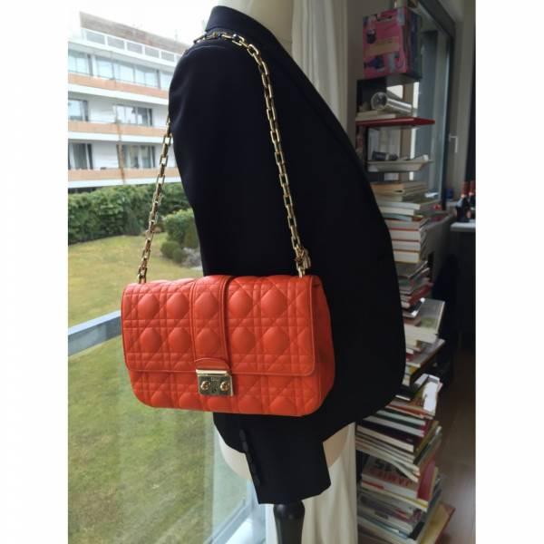 Dior M0210 籐格紋小羊皮Miss Dior 鍊帶包  紅色 dior 黛妃包
