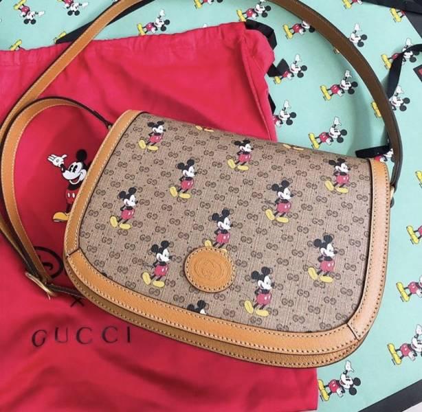 Gucci  602694 Disney 米老鼠翻蓋馬鞍包