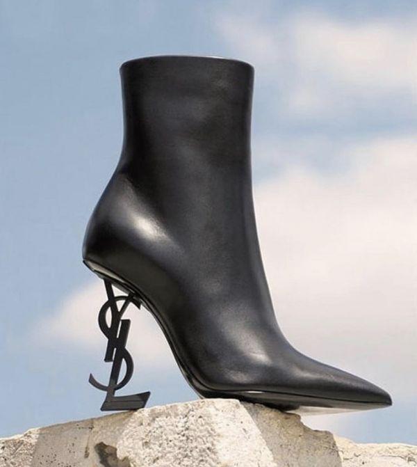 Saint Laurent Opyum 小羊皮8.5cm高跟短靴    IT 37/37.5/38.5/39/40