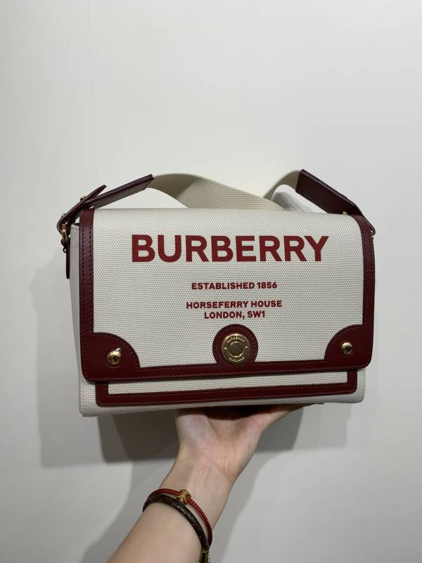 Burberry Horseferry 印花帆布 Note 斜背包
