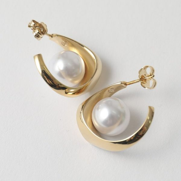 Maison Margiela 金鉤抱珍珠穿式耳環 Bottega Veneta