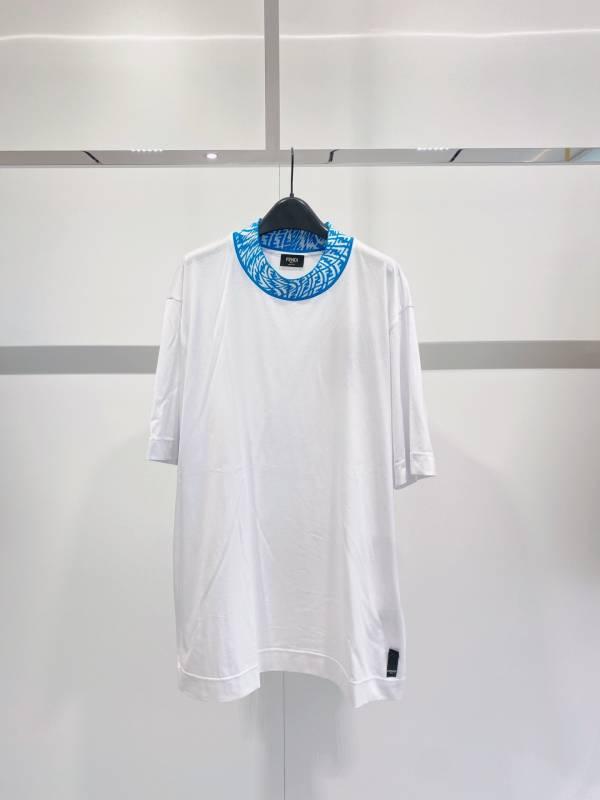 Fendi 男款白色針織T恤  S/M/L/XL