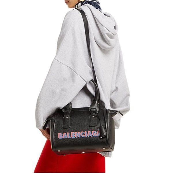 Balenciaga 543208 小牛皮 Monday波士頓2用包   黑色