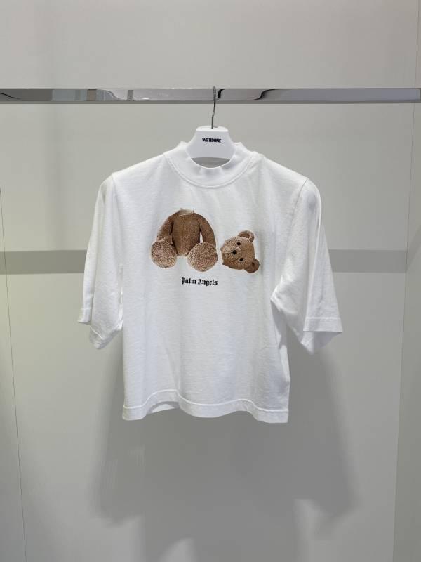 Palm Angels 女款斷頭熊純棉五分袖T-shirt上衣 白色  XS/S/M/L