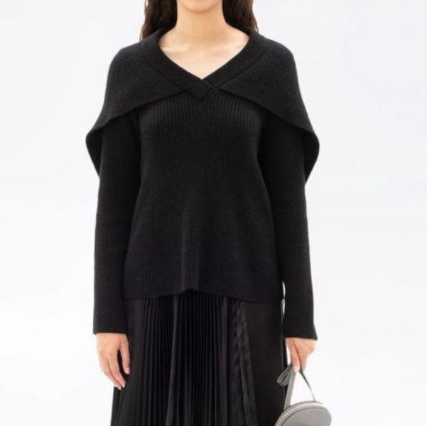 JW Anderson 女款斗篷設計羅紋毛衣 XS S M    材質: 羊毛