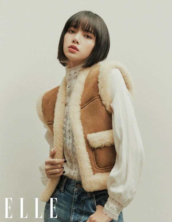 Celine 女款 二層皮革襯芯背心上衣 駝色 / 奶白色  FR 36 Lisa 同款